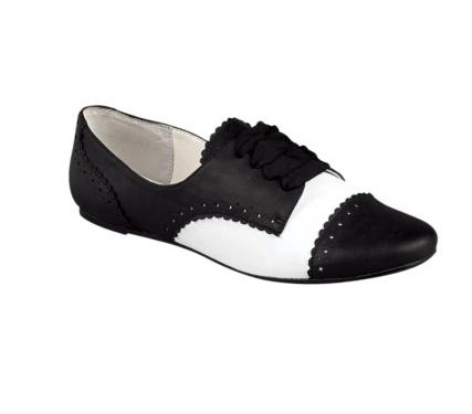 black and white oxfords happy