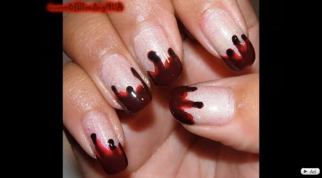 Halloween Ideas Easy To Do Bloody Vampire Nails